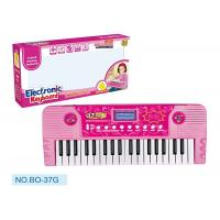 Buy cheap Pink Children's Electronic Piano Keyboard With Microphone Battery Operated product