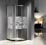 Buy cheap Custom 900MM Quadrant Shower Enclosures Mirror Glass Dimond Shape Pivot Door product