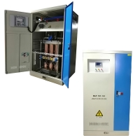 Buy cheap 3 P AC High Power 500KVA Industrial  Automatic Compensated Voltage Regulator product