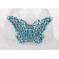 Buy cheap Blue Color Costume Jewelry Jewelry Pins & Brooches , Diamond Butterfly Pins And Brooches product