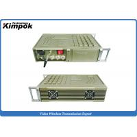 Buy cheap Vehicle COFDM Transmitter , 100-200km Military Long Range Video Transmitter 20W RF from wholesalers
