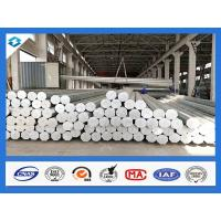 Buy cheap 35FT 3mm Thick Q345 500KGF Load Galvanized Electric Steel Poles product