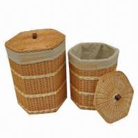 Buy cheap 2-piece Laundry Basket Set with Lids, Large Storage, Various Sizes and Colors are Available product