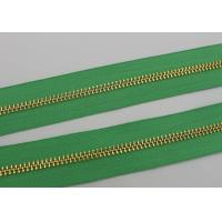 Buy cheap Luggage / Handbags Long Chain Zipper 5# / 8# Gold Teeth 50m In One Roll Green Tape product