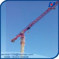 Buy cheap Large 24t QTP8025 Electric Flat Top Tower Crane 80m Long Arm Cost from wholesalers