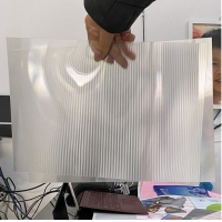 Buy cheap OK3D factory manufacture 0.9mm 70LPI PET Lenticular Sheet for 3d lenticular printing by injekt print and UV offset print product