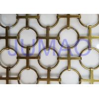 Interior Chainmail Metal Mesh Curtain Bronze Space Divider For Decorations