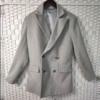 China Soft Women's Casual Blazers , Double - Breasted Ladies Wool Blazer Jackets on sale