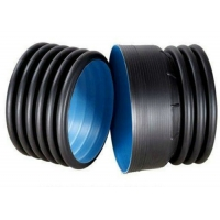 Buy cheap 1.6Mpa Black Double Wall PE Pipe Fittings HDPE Light Weight product