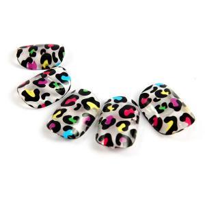 China Plastic Nail Art Fake Nails , Crackle nail tips artificial fingernails on sale