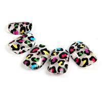 China Plastic Nail Art Fake Nails , Crackle nail tips artificial fingernails on sale