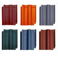 Buy cheap Terracotta Lightweight Spanish Roof Tiles With Snow / Storm Resistance product