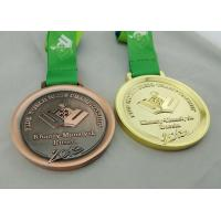 Khanty Mansiysk Ribbon Medals 3d Copper Plated , Heat Transfer Print Ribbon