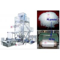 Buy cheap LDPE / HDPE / LLDPE /PA/ PP LC-X3-FM1350 three layer co-extrusion PE film blowing machine product