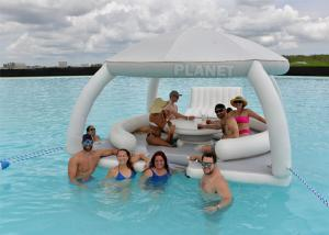 Buy cheap Cutom Design Inflatable Water Leisure Platform With Tent Water Amusement Equipment Floating Island product
