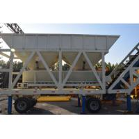 China YHZS50 JS1000 Concrete Batching Plant Mobile Type With 50 M³/H Capacity on sale