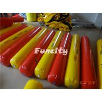 Buy cheap Yellow / Red Color Inflatable Buoys For Water Park , Water Fence / Inflatable Buoys product