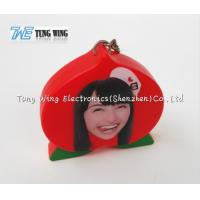 Buy cheap OEM Funny Red Peach Shaped Musical Keyring , Custom Talking Keychain product