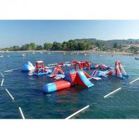 Buy cheap Red and Blue Inflatable Aqua Park , 0.9mm PVC Tarpaulin Inflatable Sports Park product
