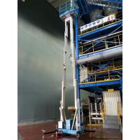 Buy cheap Dual Mast Hydraulic Lift Ladder Manual Push Around For Shopping Centers product
