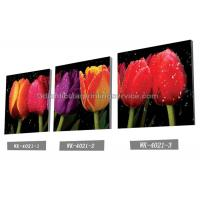 Buy cheap Decoration Flower Pictures Custom Lenticular Printing Frameless PET Printing product