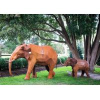 Buy cheap Out Door Animal Corten Steel Sculpture Elephant Garden Statue Life Size product
