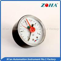 Back Type Absolute Pressure Gauge , Red Pointer Door Pressure Gauge