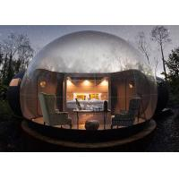 Buy cheap Hotel Usage Clear PVC Inflatable Bubble Tent 4m D With Blower Inflating from wholesalers