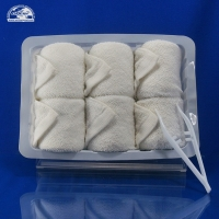 Buy cheap Hot refresh White Disposable gift airline face towels for aircraft product