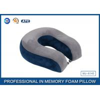 Buy cheap Comfort Automotive / Plane Poly Jersey Inner Memory Foam Travel Neck Pillow With Button product