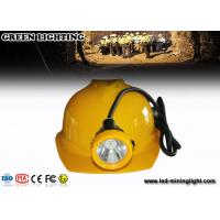 China IP68 Waterproof  Hard Hats Light , 12000lux Ultra Bright Mining Cap Lights With 6.6Ah Battery on sale
