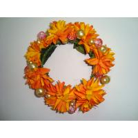 Buy cheap Orange   Silk Artificial Ddecorative Flowers Garlands for Wall Mounted Decorations   product