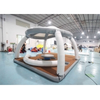 Buy cheap Inflatable Water Floating Mat Island With Roof Tent Inflatable Aqua Banas Water Tent For Leisure Time product