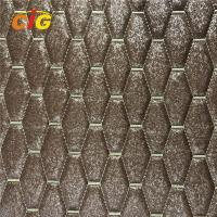 Buy cheap Shiny Surface Designs Embroidery PU PVC Leather With High Density Foam For Car from wholesalers