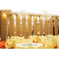 Buy cheap Banquet Hall Acoustic Room Dividers , Floor to Ceiling Sliding Partition Wall product