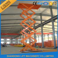 Buy cheap Warehouse or Home Stationary Hydraulic Scissor Lift Cargo Scissor Lift , Orange Blue product