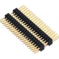 Buy cheap 1.27mm Pin Header Connector Dual Row Double Plastic PA9T Black Pcb Pin Connector product