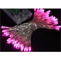 Buy cheap Waterproof Battery Operated Christmas String Lights 4.5 Volt Multicolor / Pink product