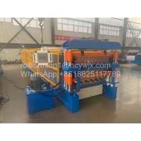 Buy cheap Three Layer Roofing Sheet Roll Forming Machine product