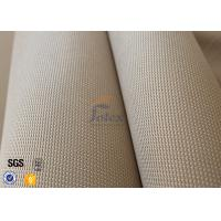 China 1150gsm 1.2mm Brown Silica Fabric 800℃ Alumina Silica Thermal Insulation on sale