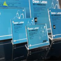 High Quality Pure Life Frames Acrylic L Shape Sign Display Holder