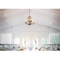 Buy cheap White Water Repellent PVC Fabric Cover Aluminum Frame Wedding Decoration Tent from wholesalers
