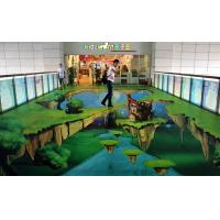 Buy cheap Custom Non-slip 3D Floor Stickers For Advertisement In Shopmarket from wholesalers