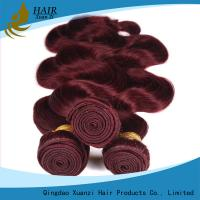 Buy cheap Red Colored Body Wave 100% Virgin Human Hair Extensions 8 Inch - 32 Inch product