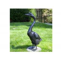 Buy cheap Outdoor Modern Life Size Bronze Statue Casting Finish Animal Goose Sculpture product