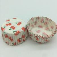 Cherry Pattern Greaseless Cupcake Liners, Muffin Cake Paper Cups For Children Party