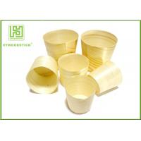 Buy cheap Smooth Healthy Wooden Sushi Boat Disposable Poplar Wooden Cups For Sauce product