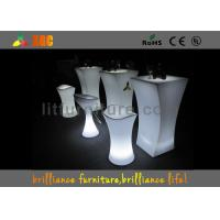 Quality PE material Glowing Cocktail table , Durable Outdoor Bar Furniture for sale
