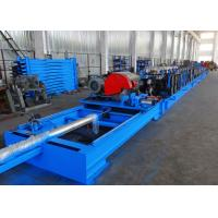 Buy cheap Self Seamed Step Rack Roll Forming Machine With Flying Saw Cutoff product