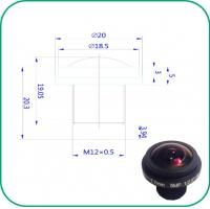 Buy cheap Custom LOGO Fish Eye Wide Angle Lens , CCTV Fisheye LensF1:2.0 Aperture product